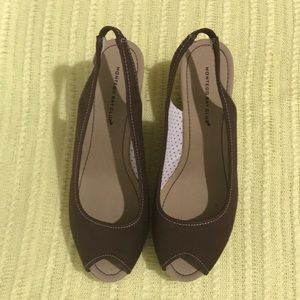 Montego Bay Club Brown And Tan Wedges Size 9M